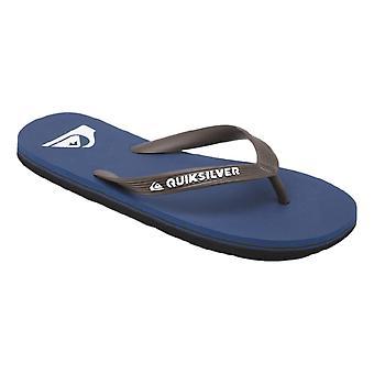 Quiksilver Molokai Flip Flops - Blue / Brown / Blue