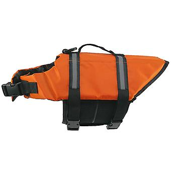 Orange Dog Life Jacket Reflective Summer Swimming Training For Pets