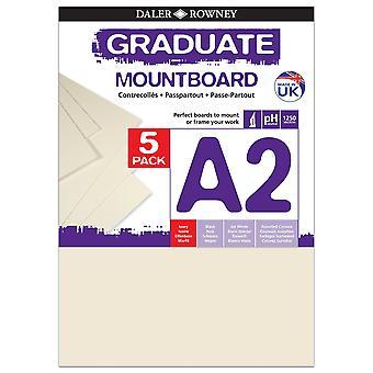 Daler Rowney Graduate Mount Board 5pk Ivory A2