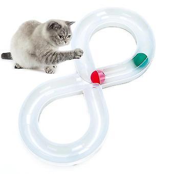 Creative Cat Jucărie Ball Pet Jucărie Cat Jucării Intelligence Joaca Disc Melodii Platan Ball Pet (alb)