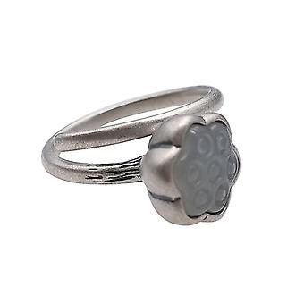925 Silver Retro Women's Ethnic Style Lotus Roof Tai Silver Inset Hetian Jade Ring