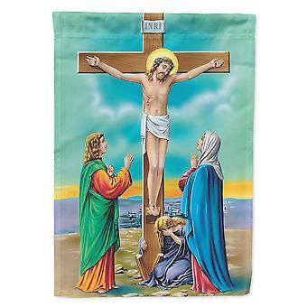 Caroline's Treasures Aph1307Gf Jesus On The Cross Crucifixion Garden Flag, Piccolo, Multicolore