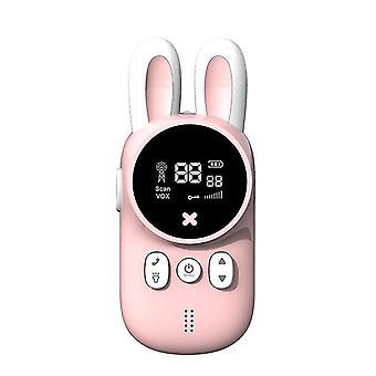 Pink wireless kids walkie talkies sound transmission interactive toys cai1478