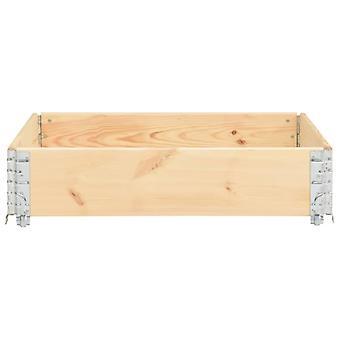 vidaXL Pallet top frame 100×100 cm solid pine wood