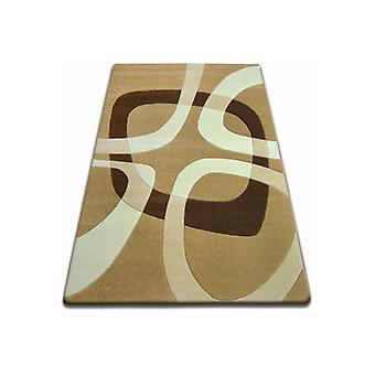 Rug FOCUS - F242 beige SQUARE quadrangle cappuccino