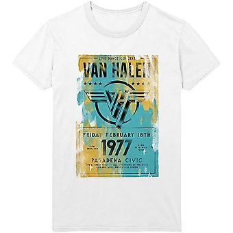 Van Halen - Pasadena '77 Men's Small T-Shirt - White