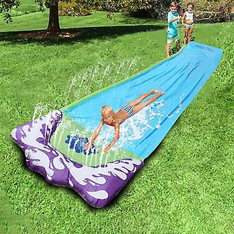 Splash Sprint Water Slide With Foot Racing Lanes And Splash Pool Toy Backyard