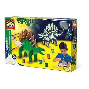 Ses Creative Children's Houten Dino Glow-in-the-Dark Kit- Unisex