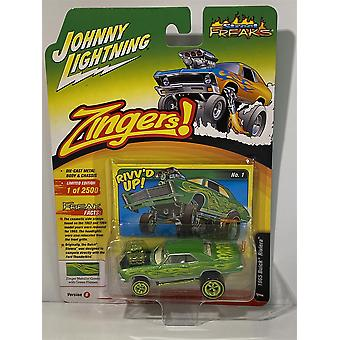 1965 Buick Riviera Green with Green Flames Johnny Lightning 1:64 JLSP017B