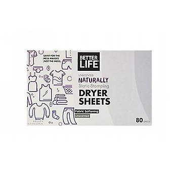 Better Life Dryer Sheet, Grapefruit Lavender 80 CT