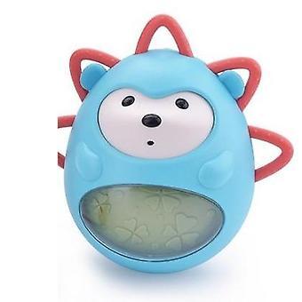 Tumbler musical Hedgehog Toy, Baby Teether Intégré Bell Bath Apaisant