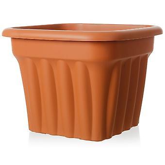 Wham Storage Pack de 2 - 40cm Vista Medium Square Plastic Planter