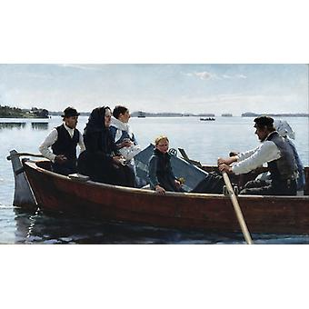 Conveying The Childs Coffin,albert Edelfelt Art Reproduction.realism Style Modern Hd Art Print Poster,canvas Prints Wall Art For Home Decor Pictures (