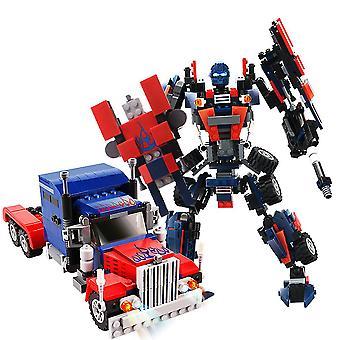 Optimus Prime Bouwstenen Transformers Puzzel Micro 3d Cijfers Educatieve Baksteen Speelgoed