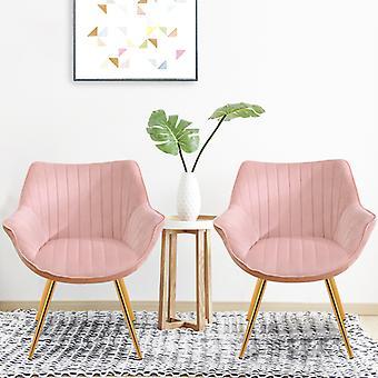Ensemble de 2 Velvet Leisure Dining Chair