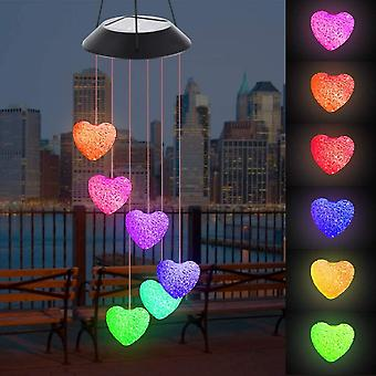 Solar Wind Carillon, Led Wind Carillon Color Change Indoor And Outdoor Waterproof, Wind Carillons