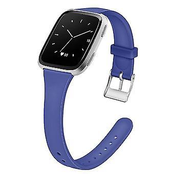 Vervangende siliconen band voor Fitbit Versa (6,7-8,1 inch) - Blauw