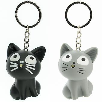 Light Up Pussy Cat Keyring - Cracker Filler Gift