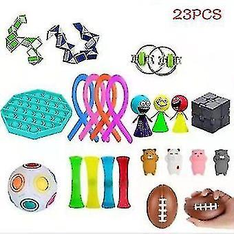 Conjunto de brinquedos de descompressão de ventilação, incluindo vários tipos de brinquedos de descompressão, 21pcs e 23pcs (23PCS)