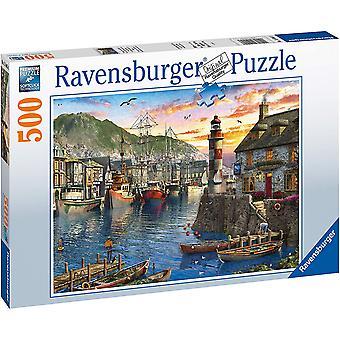 Ravensburger 15045 Soloppgang ved Havnen 500 stykke Puslespill