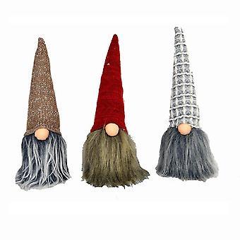 Set of Three Knit Hat Hanging Cool Gnomes