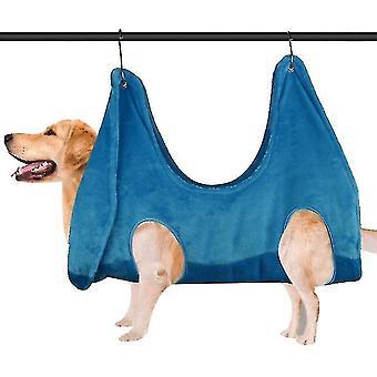 Hond Kat Hangmat, Pet Nail Trimming Hangmat, Double Padded (Blauw)