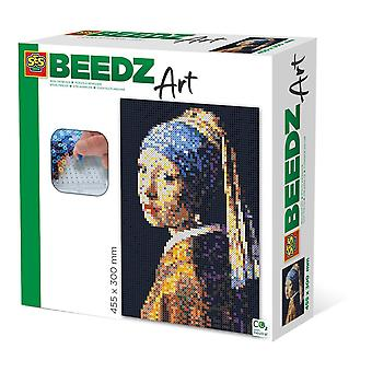 Vermeer Girl avec une boucle d'oreille en perle Beedz Art Mosaic Kit, 7000 perles de fer