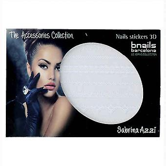 Nail art stickers Bnails Deco Sabrina Azzi 2 White Lace 111 White
