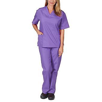 Ápolási Scrubs Női Egyenruha Rugalmasság Kisállat Klinika Nővér V-nyakú Orvosi