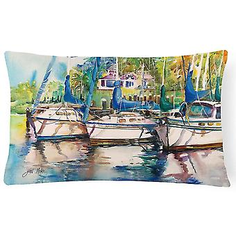 Pillows safe harbour sailboats canvas fabric decorative pillow