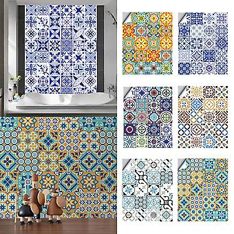 20pcs Tile Stickers Self Adhesive Home Wall Decor Murals Waterproof