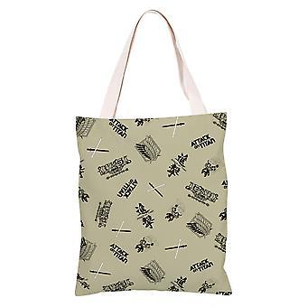الكرتون أنيمي قماش حقيبة التسوق حمل، هجوم على تيتان