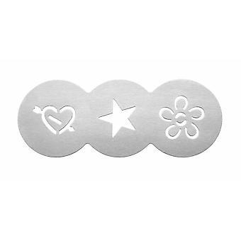 Tala Cupcake stencil, szív, csillag, virág