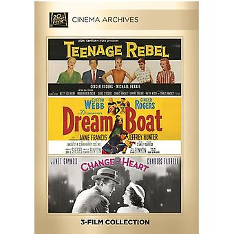 Teenage Rebel / Dreamboat / Change of Heart [DVD] USA import