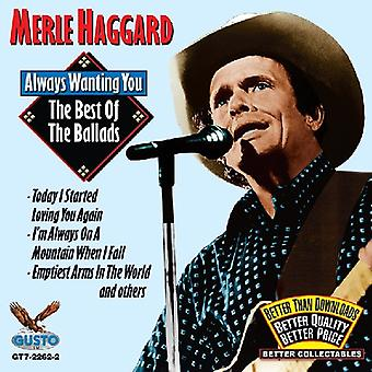 Merle Haggard - bästa av ballader [CD] USA import