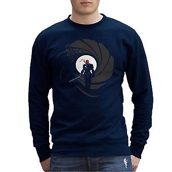 Deathstroke Slade Wilson Licence To Slash James Bond Gun Barrel Men's Sweatshirt