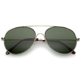 Classic Brow Bar pół-bez oprawek przeciwsłoneczne okulary Aviator 57 mm