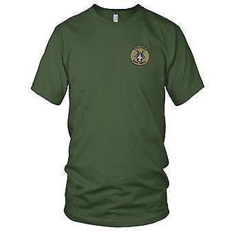 USAF 421 Tactical Fighter Sqn - Kiss Of Death zwarte weduwen - Vietnamoorlog geborduurd Patch - Mens T Shirt