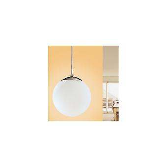 Eglo Rondo Pendant Ceiling Light Single Modern Matt White Globe