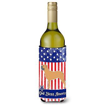 USA isänmaallinen Bullmastiffi viinipullo Beverge eriste Hugger