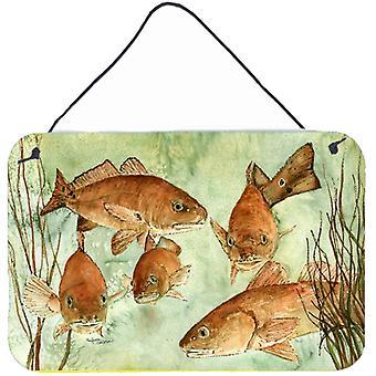Carolines skarby 8983DS812 czerwony ryby pływać ściany lub drzwi wiszące drukuje