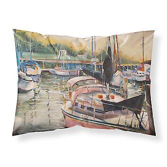 Black Sails Sailboat Fabric Standard Pillowcase