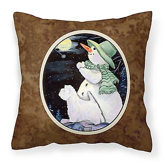 Carolines Treasures  SS8797PW1414 Snowman with Westie Decorative   Canvas Fabric