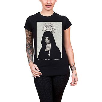 Bring Me The Horizon T Shirt Nun band logo Official Womens Skinny Fit Black