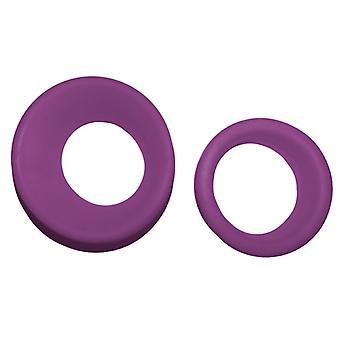 Pana młodego gumy profesjonalnych nożyczek wstawia fioletowy