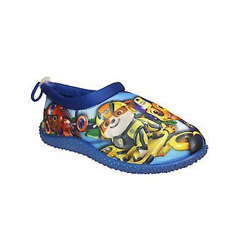 Boys Kids Novelty Style Pocdal Paw Patrol Cartoon Character Sock Slipper
