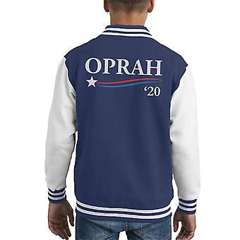 Oprah 2020 For President Kid's Varsity Jacket