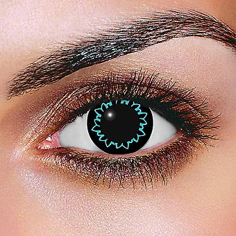 Big Eye Butterfly Aqua Contact Lenses (Pair)