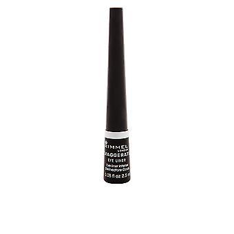 Rimmel Londen overdrijven vloeistof Eye Liner #001-zwarte voor vrouwen