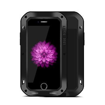 Love MEI Outdoor Metall Bumper für Apple iPhone 7 Plus Schutzhülle Schwarz